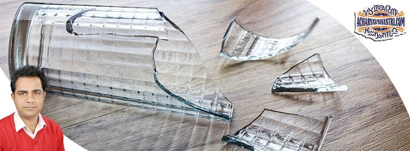 Glass break is inauspicious or auspicious